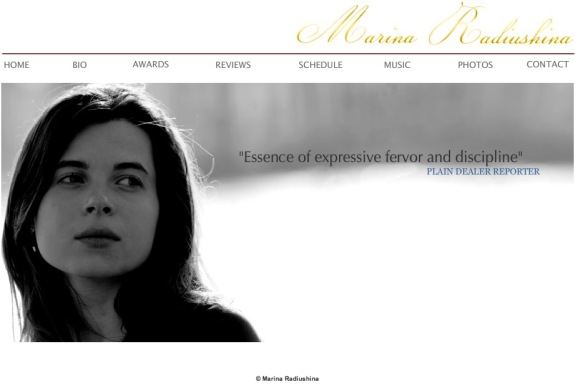 Marina Radiushina - an international classical pianist
