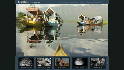 Kashmir Reflections Web Development